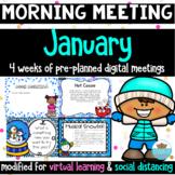 Morning Meeting January *Greetings, Sharing, Activities &