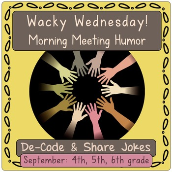 Morning Meeting Jokes Activity.  September- Back to School