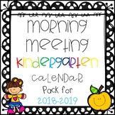 Morning Meeting Kindergarten Calendar Pack