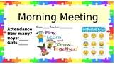 Morning Meeting Kindergarten powerpoint