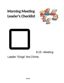 Morning Meeting Leader's Checklist