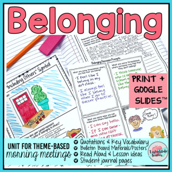 Morning Meeting Belonging Theme Activities