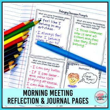Morning Meeting Belonging Theme Activities