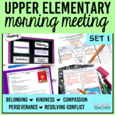 Morning Meeting Activities for Upper Elementary Set 1 BUNDLE