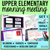 Morning Meeting Activities with Themes in Literature Set 1 BUNDLE