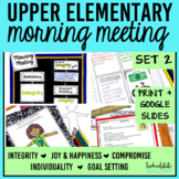 Morning Meeting Activities with Themes in Literature Set 2