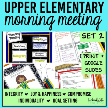 Morning Meeting Activities with Themes in Literature Set 2 BUNDLE
