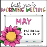 First Grade Morning Meeting Messages - May