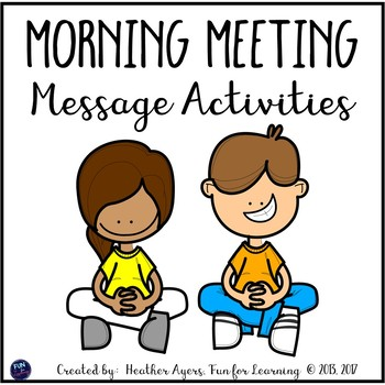 Morning Meeting Message Activities