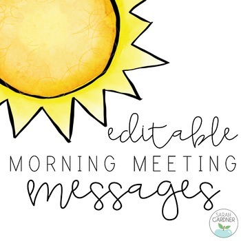 Morning Meeting Message Background Slides