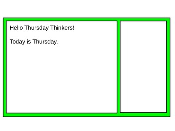 Morning Meeting Message Template – 5 Slides, Mon.-Fri.  – Power Point