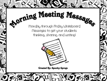 Morning Meeting Messages