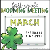 First Grade Morning Meeting - March