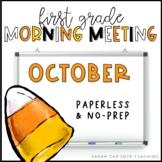 First Grade Morning Meetings - October