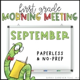 First Grade Morning Meeting Messages - September