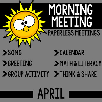 Morning Meeting Messages for April