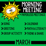 Morning Meeting Messages for March