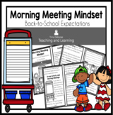 Morning Meeting Mindset Reader: Back-to-School Expectations Digital Option