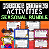Morning Meeting Monthly Games -Growing Bundle