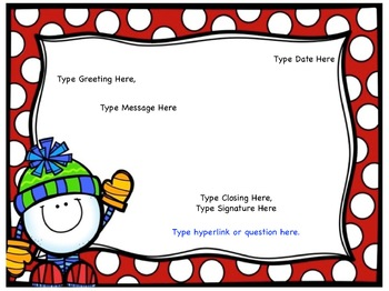 Morning Meeting: Morning Message Template *Editable*