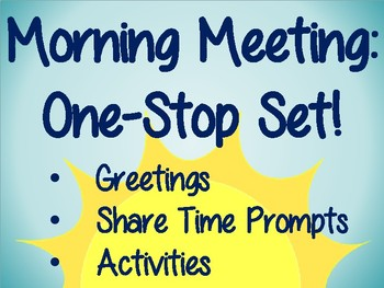 Morning Meeting One-Stop Set [Whole Year]