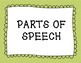 Morning Meeting: Parts of Speech and Question Words