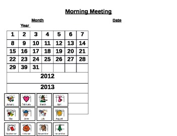 Morning Meeting Point Card/Overlay