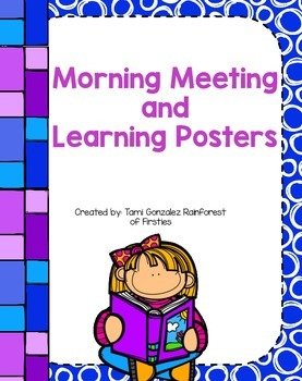Morning Meeting Posters