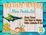 Morning Meeting Posters Ocean Theme