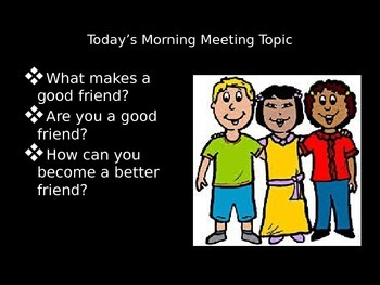 Morning Meeting PowerPoint