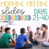 Morning Meeting PowerPoint Slides