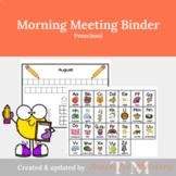 Morning Meeting Preschool Binder