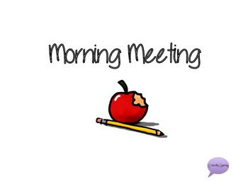 Morning Meeting Printable Book with Manipulatives