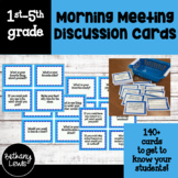 Morning Meeting Printable Discussion/Questions Cards