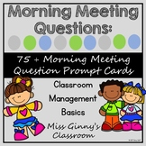 Morning Meeting Prompt Cards 2nd Grade