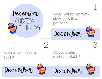 Morning Meeting Question of the Day - 366 Questions