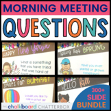 Morning Meeting Question of the Day | Bundle | Google Slides