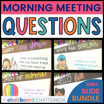 Morning Meeting Question of the Day YEARLY BUNDLE