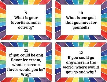 Morning Meeting Questions - ALL YEAR!