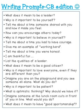 Morning Meeting Questions-Character Building