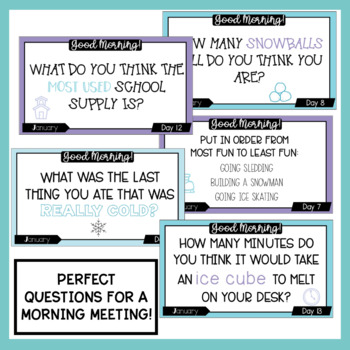 Morning Meeting Questions | January