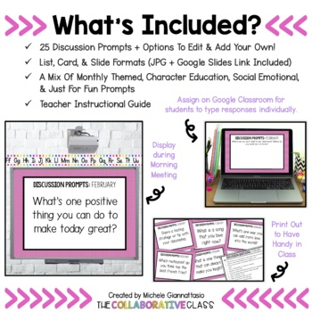 Morning Meeting Questions for February {Editable}