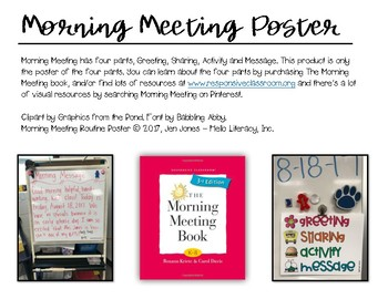Morning Meeting Routine Poster