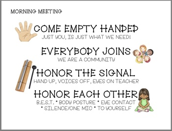 Morning Meeting Rules