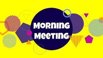 Morning Meeting Sample