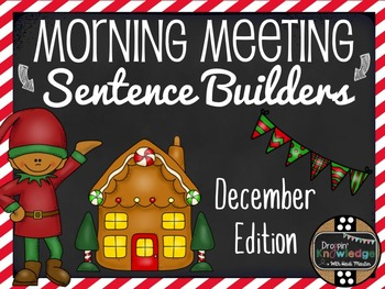 Morning Meeting Sentence Building Activity! *December Edition*