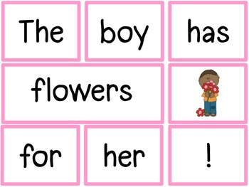 Morning Meeting Sentence Building Activity! *February/Valentine Edition*