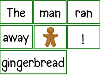 Morning Meeting Sentence Building Activity! *Gingerbread Man Story Edition*