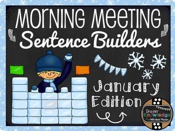 Morning Meeting Sentence Building Activity! *January/Winter Edition*