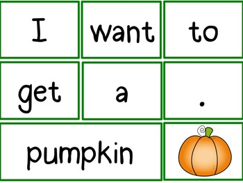 Morning Meeting Sentence Building Activity! *October Edition*
